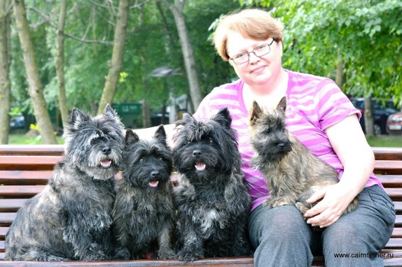 Elena Sorokina the owner of the kennel Elivs and Cairn Terrier Gosha (1)