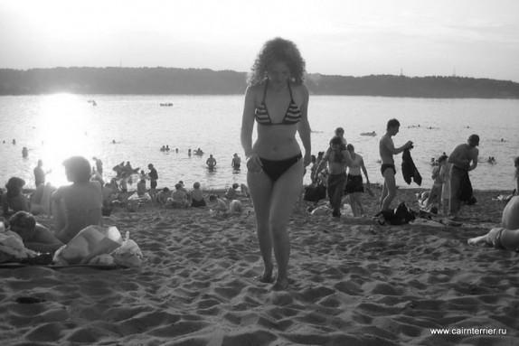 Пляж люберецкого карьера.