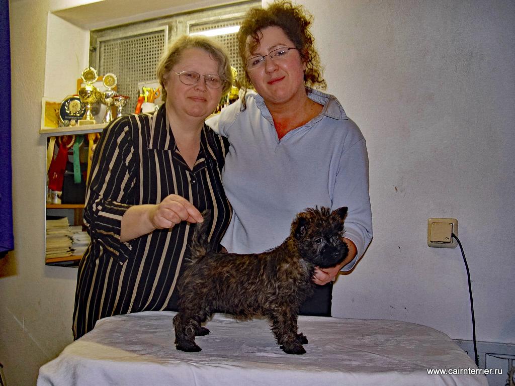 Заводчик Tanja Reisser и Елена Сорокина с керн терьером Glenroses Zensation