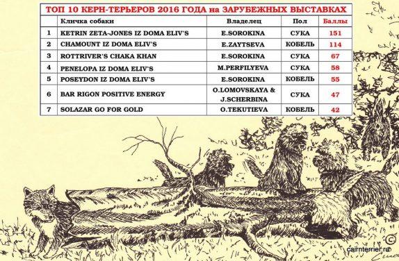 Итоги рейтинга 2016 года на зарубежных выставках.